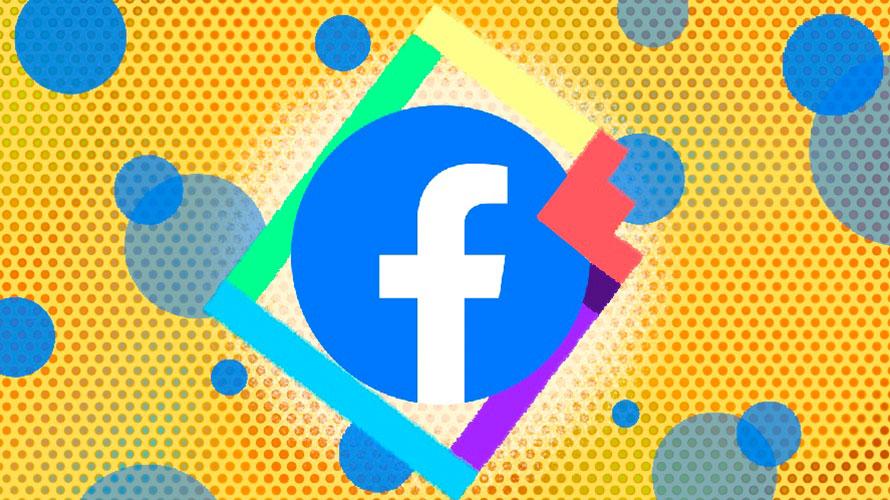 Illustration featuring the Facebook logo