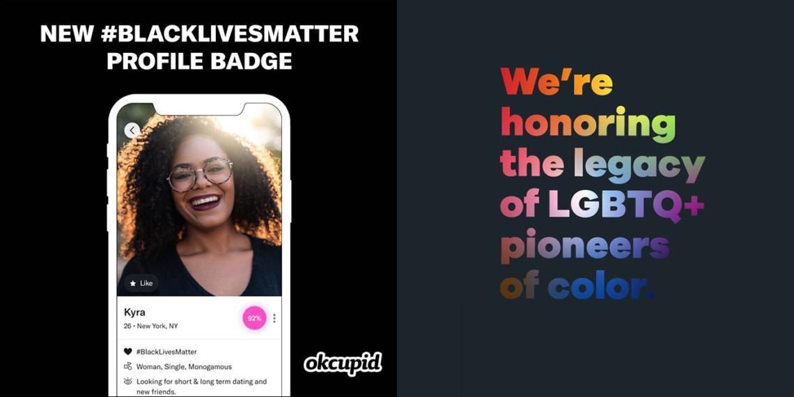 OkCupid profile badge images