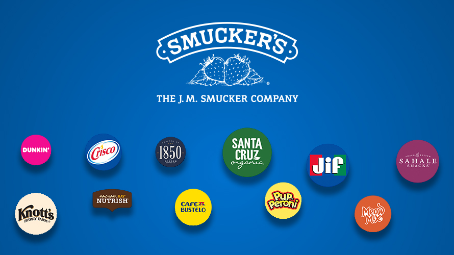 Company logos for brands under the J.M. Smucker Company
