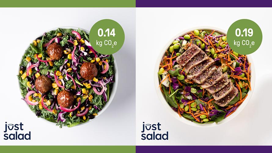 Example of a Just Salad menu
