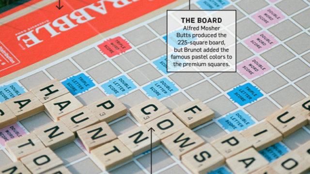 closeup of a scrabble game board