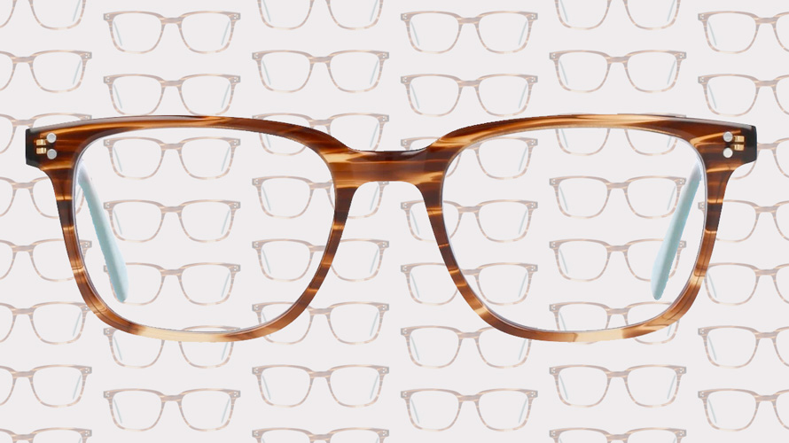 a pair of brown glasses