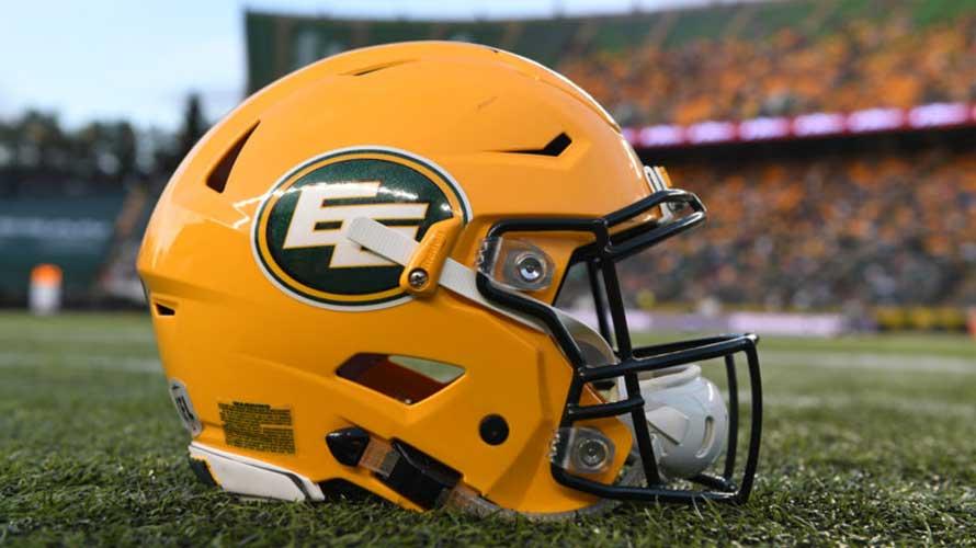 a yellow football helmet