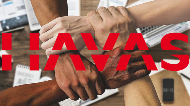 Havas logo over image of different hands