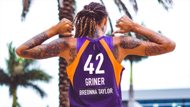WNBA jersey with Breonna Taylor
