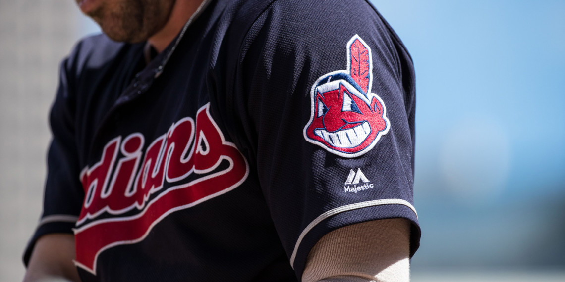 Person wearing Cleveland Indians shirt