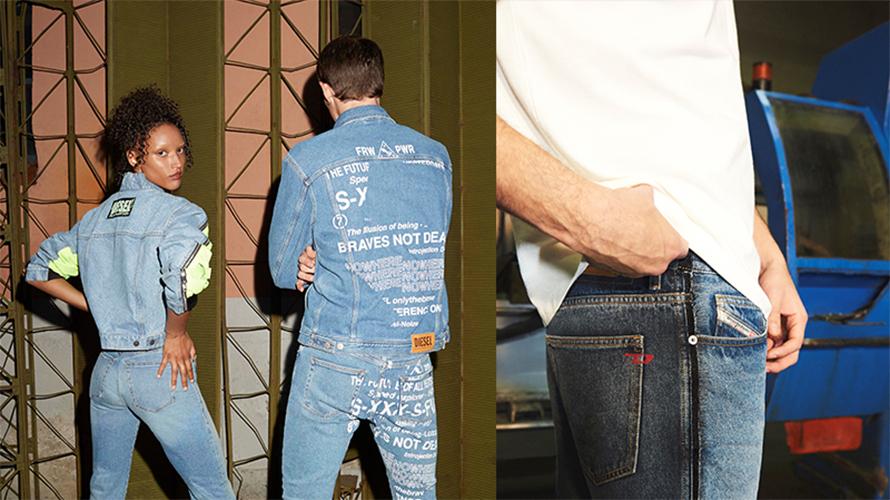 models wearing denim jeans