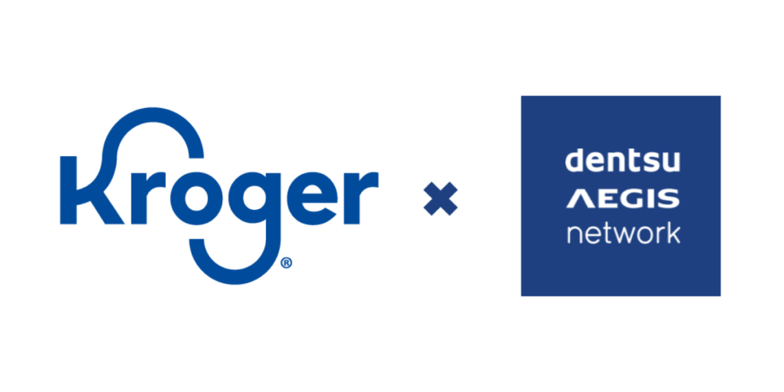Kroger and Dentsu Aegis Network logos