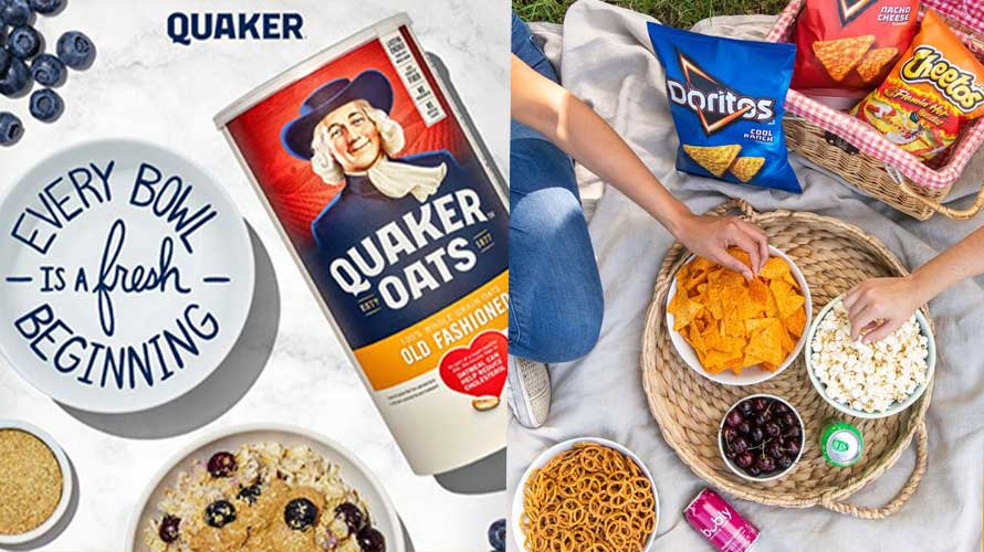 Quaker Oats and Frito-Lay products