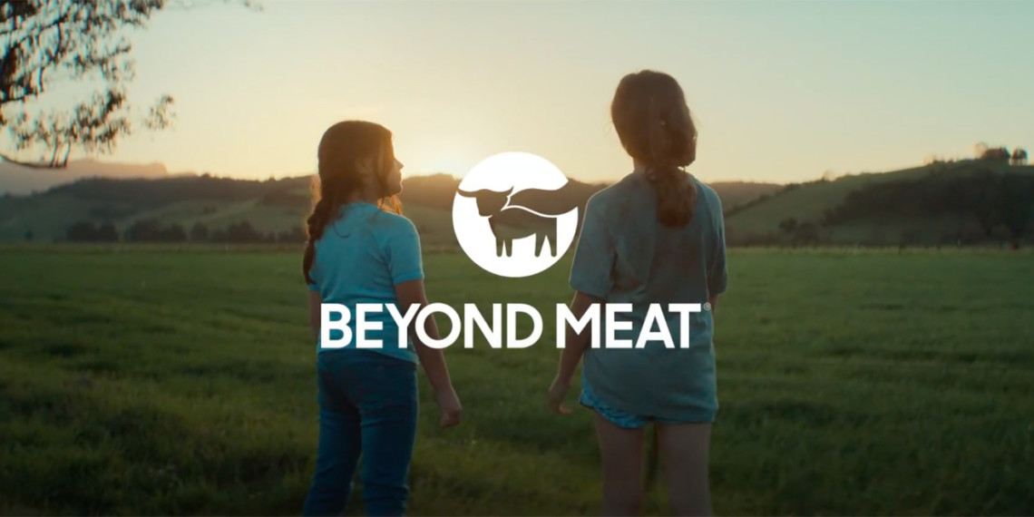 Screenshot from Beyond Meat TV ad