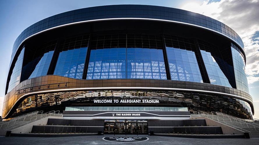 a black football stadium
