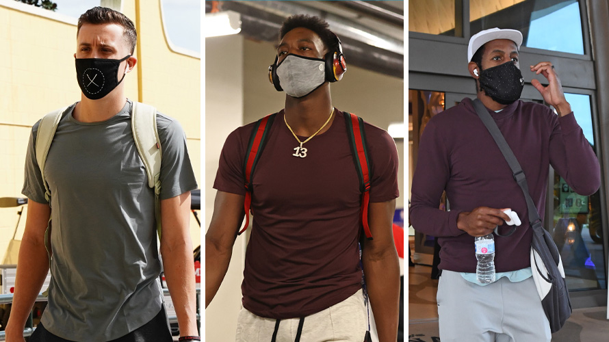 Photos of NBA players wearing Cuts Clothing
