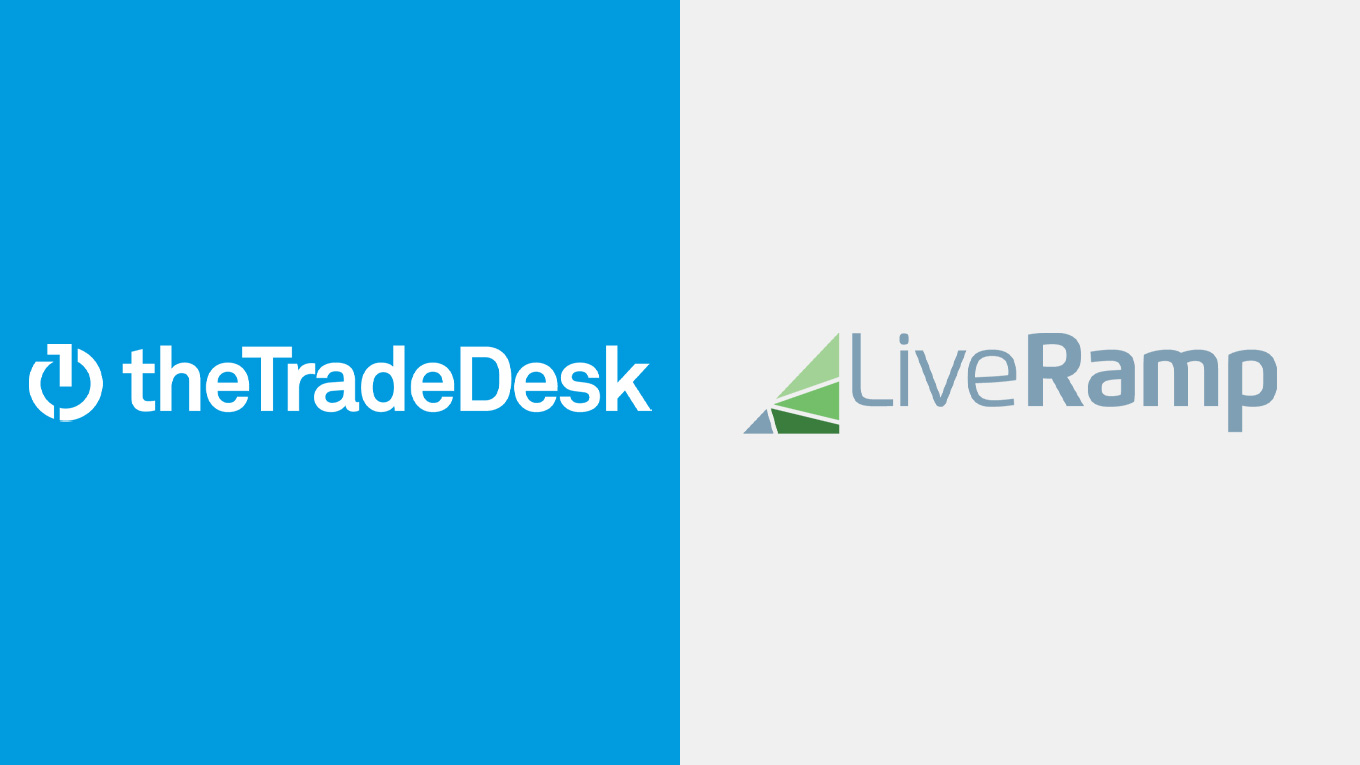 The Trade Desk and LiveRamp logos