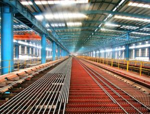 cooling bed for rebar rolling mill