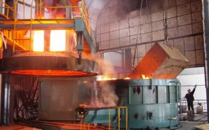 electric arc furnace for wire rod mill