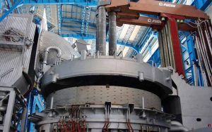 electric arc furnace for steel rolling mill