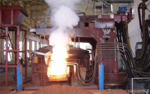 electric arc furnace for rebar rolling mill