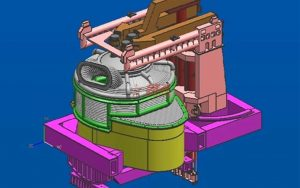 electric arc furnace for block mill