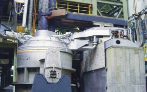 ladle refining furnace for wire rod rolling mill
