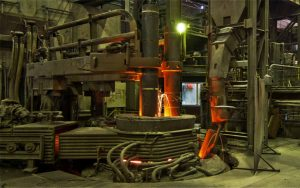 ladle refining furnace for rolling mill