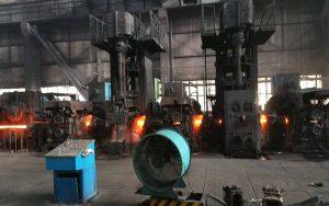 running steel rolling mill plant