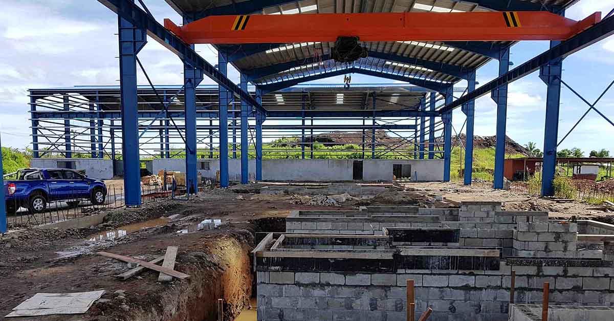 TMT-rebar-rolling-mill-under-construction