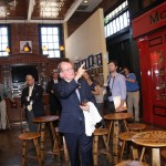 The visitors center at Lexington Brewing and Distilling Company looks like a Dublin streetscape, according to Dr. Pearse Lyons, president of Alltech. The pub fronts, he points out, are named for family members.
