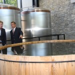 Visitors check out the fermenting Bourbon mash at the Lexington Brewing and Distilling Company, which has just been added to the Bourbon trail. It is the first distillery in Lexington in more 100 years.