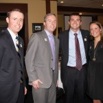 2012 Rising Stars recipient Patrick Robinson, left, celebrated the honor with his friends.