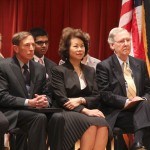From left are CIA Director Gen. David Petraeus, former labor secretary Elaine Chao and Sen. Mitch McConnell, R-Ky.