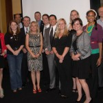 LYPA advisory board members have their photo made with this year's Rising Stars winners.