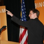 Lexington Mayor Jim Gray could not contain his enthusiasm Thursday at the welcome ceremony for global law firm Bingham McCutchen.