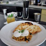 Dishes and drinks at Proof are artfully conceived, not to mention delicious – and reasonably priced. The curried quinoa features a delightful blend of flavors and textures and is complemented with poached eggs and sourdough toast.