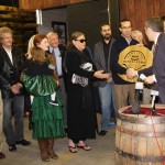 Willett Distillery is presented a Kentucky Distillers Association plaque after becoming a member of the KDA. Willett is owned and operated by Even G. Kulsveen.