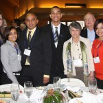 Manish Patel, third from left, and his Holiday Inn Express, Northeast team were on hand Wednesday to celebrate the Minority Business Award it received from Commerce Lexington at the 2012 Salute to Small Business luncheon.