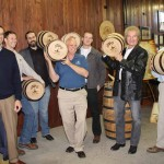 The Kentucky Bourbon Trail Artisan Craft Tour connects seven artisan distilleries from across the state. Representatives from the distilleries display commemorative barrels after the announcement Friday. The distilleries on the tour include: Barrel House Distillery of Lexington, Corsair Artisan Distillery in Bowling Green, Limestone Branch Distillery in Lebanon, MB Roland Distillery in Pembroke, Old Pogue Distillery in Maysville, Silver Trail Distillery in Hardin, and Willett Distillery in Bardstown.