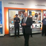 Eric Flannery, Sales Manager for AT&T's Business Integrated Services, was on hand Thursday for the ribbon cutting ceremony celebrating the launch of the 4G LTE network in Lexington.