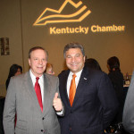 Ed Lane, CEO of Lane Communications and Lane Consulting, left, and Steve St. Angelo of Toyota Motor Manufacturing Kentucky