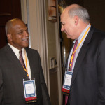 Wil James, president of TMMK, left, and Larry Hayes, secretary of the Cabinet for Economic Development