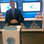 Rob South, AT&T Director of Sales, speaks Thursday at the ribbon cutting ceremony celebrating the launch of the 4G LTE network in Lexington.
