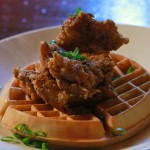 One of Saul Good's specialties is chicken and waffles.
