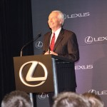 Gov. Steve Beshear speaks Friday at Toyota Motor Manufacturing Kentucky in Georgetown during a press conference announcing that the plant will being producing the Lexus ES.