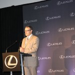 Mike Goss, general manager of external affairs at Toyota, emceed Georgetown's portion of the news conference announcing that the Lexus ES will be manufactured at Toyota Motor Manufacturing Kentucky.