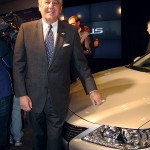 Lt. Gov. Jerry Abramson got a close-up look at the Lexus ES, which will be produced in Georgetown.