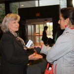 Former Gov. Martha Layne Collins, who helped recruit Toyota to Kentucky in the 1980s, is interviewed by a reporter from WKYT.