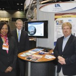 Taunya Phillips, assistant vice president of engineering commercialization at the University of Kentucky's Commercialization and Economic Development office, left, along with George Ward, executive director of the UK's Coldstream Research Campus, and Warren Nash, director of the Lexington Innovation & Commercialization Center (ICC), represented UK at the 2013 BIO International Convention.