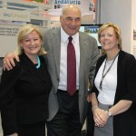 Lynn Minton, right, manager of marketing and business development at Western Kentucky University, helped promote WKU's research in biotechnology research at the annual BIO Convention. At left is Vickie Yates Brown, president and CEO of Nucleus and Larry Hayes, secretary of the Kentucky Cabinet for Economic Development.
