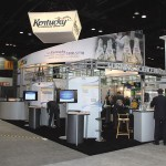The Kentucky Pavilion, an exhibit by the Kentucky Cabinet for Economic Development, featured information about shovel-ready sites, workforce training, incentives, small business assistance and other resources.