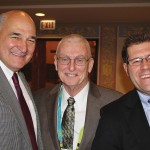 Larry Hayes, left, secretary of the Kentucky Cabinet for Economic Development; Al Mattingly, Daviess County Judge/Executive; and Nick Brake, president and CEO of the Greater Owensboro Chamber of Commerce were among the ambassadors for Kentucky at the 2013 BIO International Convention in Chicago.