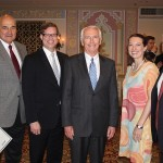 Stites & Harbison hosted a reception for Kentucky delegates to the BIO Convention in Chicago. From left are: Kentucky Cabinet for Economic Development Secretary Larry Hayes, Stites & Harbison Chairman Kenneth R. Sagan, Kentucky Gov. Steve Beshear, and Stites & Harbison attorneys Mandy Wilson Decker and Joel Beres.